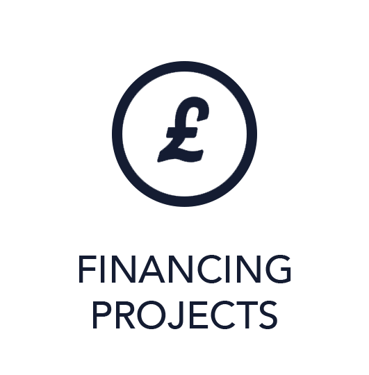 Icon financing projects blue